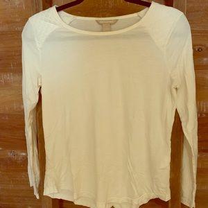 Banana Republic long sleeve knit shirt - off white